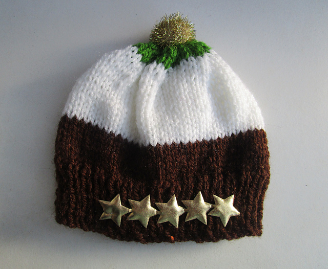 Knitting Patterns Galore - Christmas Pudding Baby Hat