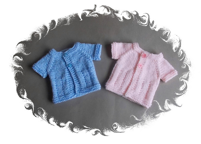 Knitting Patterns Galore Jack And Jill Premature Baby Jackets