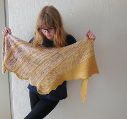 Two sides to the story shawl