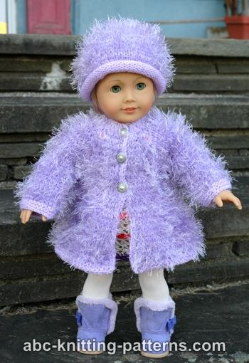Knitting Patterns Galore - American Girl Doll Fur Coat
