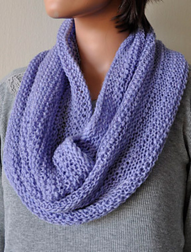 Knitting Patterns Galore Allegro Bands Of Lace Cowl Or Scarf