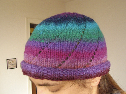Knitting Patterns Galore - Noro Spiral One-Skein Hat