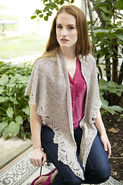 Knitting Patterns Galore Concerto Shawl