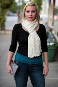 Cozy Cable Scarf