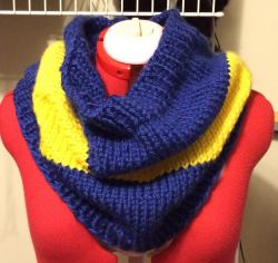 Striped Chunky Cowl