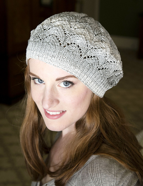 Free Knitting Pattern Lace Hat : Knitting Patterns Galore - Lace Beret