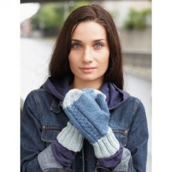 Off-Set Cable Mittens