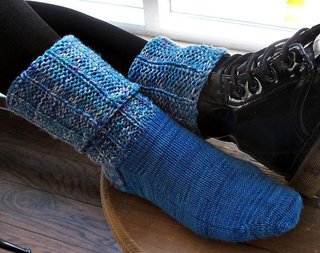 Knitting Patterns Galore - Sidekick Boot Socks