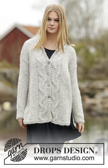 Knitting Patterns Galore - Winter Sparkle Cardigan