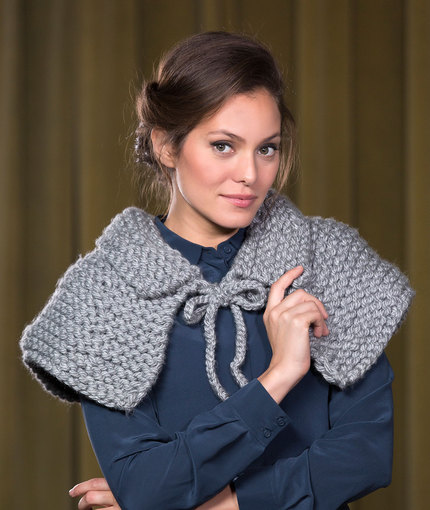 Knitting Patterns Galore Artisan Capelet