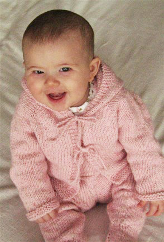 Knitting Patterns Galore - Easy Baby Cardigan