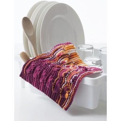 Knitting Patterns Galore Peace Love Knit Dishcloth