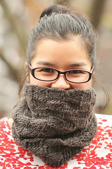 Knitting Patterns Galore Checkerboard Cowl