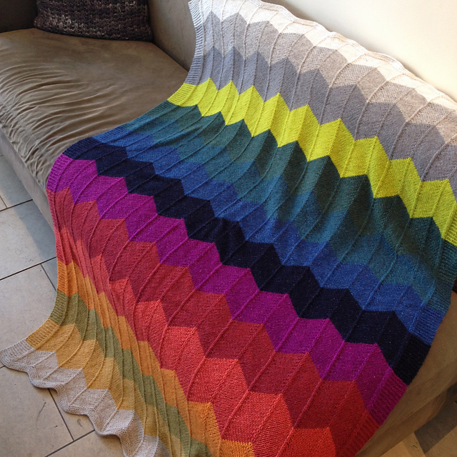 Free Knitting Pattern For Chevron Blanket : Knitting Patterns Galore - Chevron Gradient Afghan