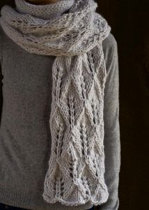 Lovely Leaf Lace Scarf
