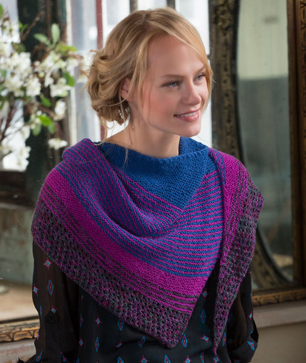 Knitting Patterns Galore Modern Stripe Shawl