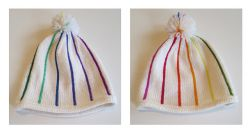 Pinstriped hat, basic or brimmed