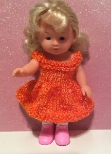 "Lacey 8"" doll dress"