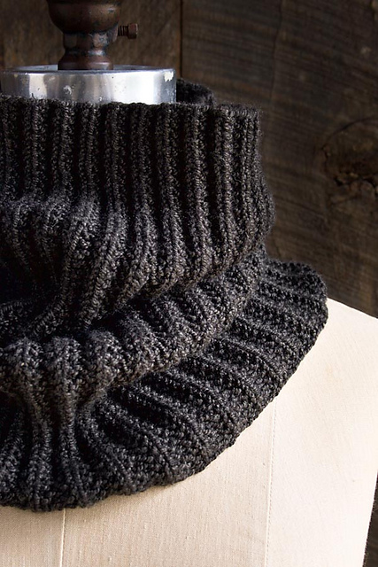 Knitting Patterns Galore Mistake Rib Cowl