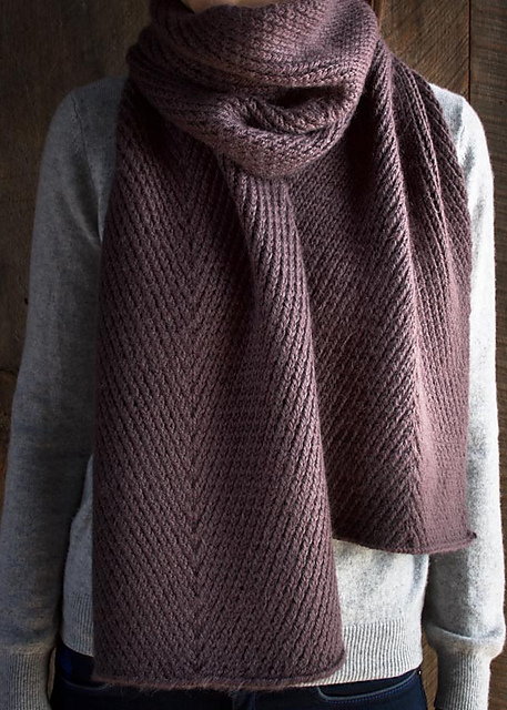Knitting Patterns Galore Diagonal Twist Scarf