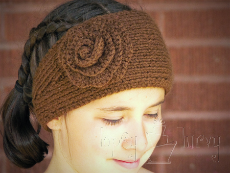 Knitting Patterns Galore Knit Earwarmer With Crochet Flower