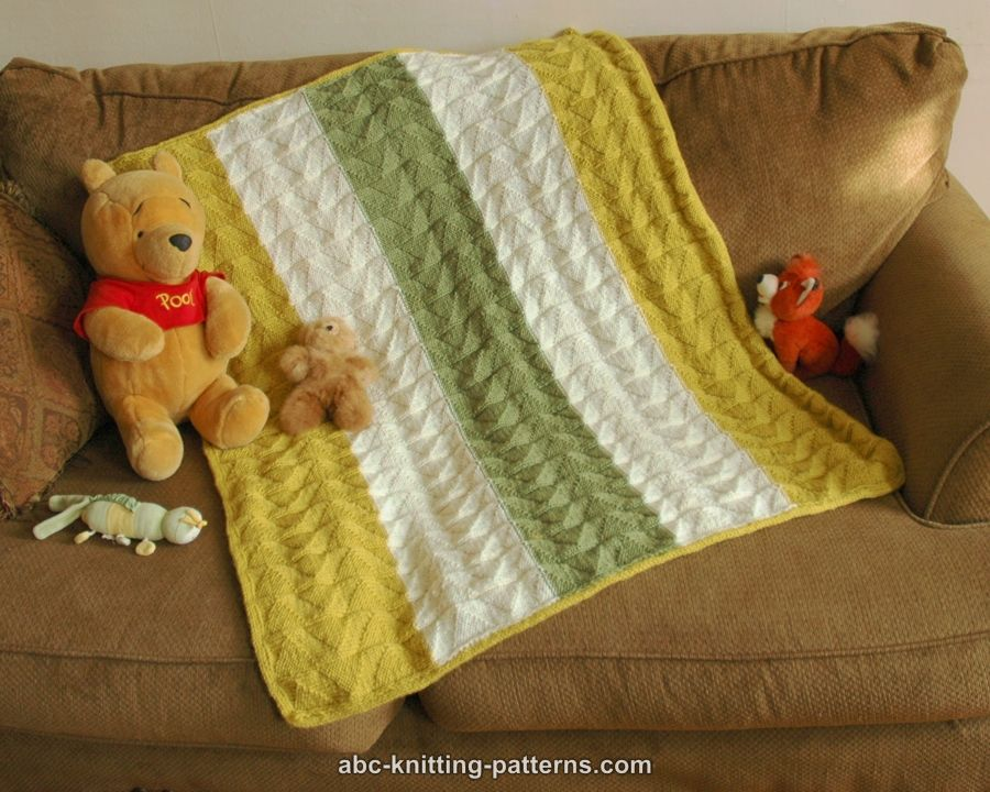 Knitting Patterns Galore - Double Pennant Baby Blanket