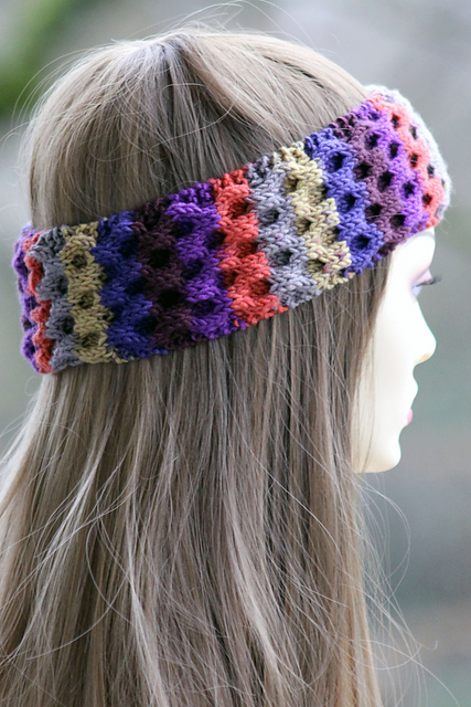 Easy Knit Headband Pattern : Knitting Patterns Galore - Honeycomb Headband
