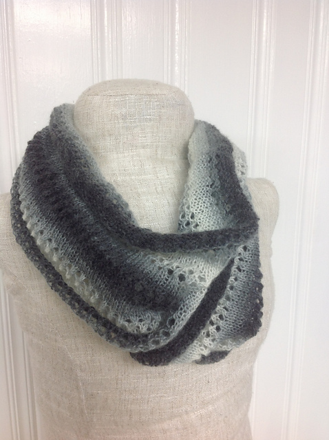 Knitting Patterns Galore Ombre Eyelet Infinity Scarf