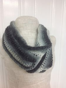 Ombre Eyelet Infinity Scarf