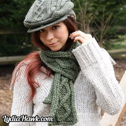 Lucky Cable Scarf