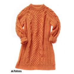 Honeycomb Aran Dress