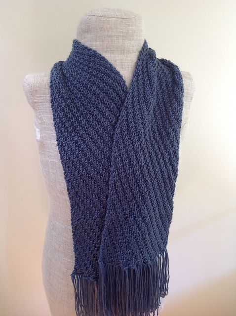 Knitting Patterns Galore Diagonal Scarf