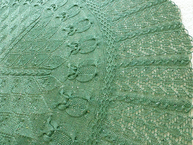 Knitting Patterns Galore - Into the Woods Owl shawl