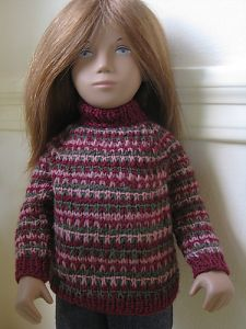 Sasha Doll Slip Stitch Striped Sweater