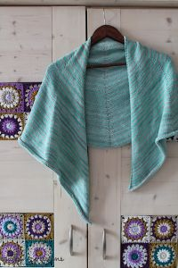 Stripy Spring Shawl