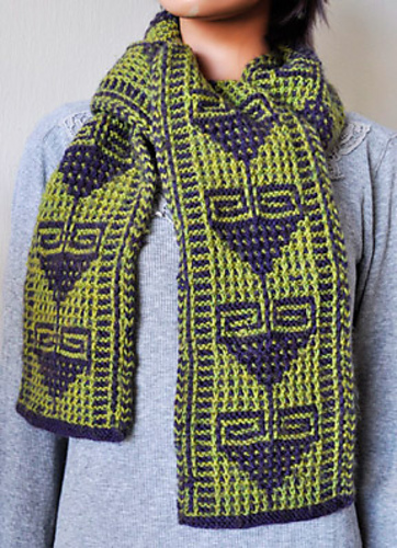 Knitting patterns galore flying geese mosaic scarf click to enlarge free mens knitting pattern dt1010fo