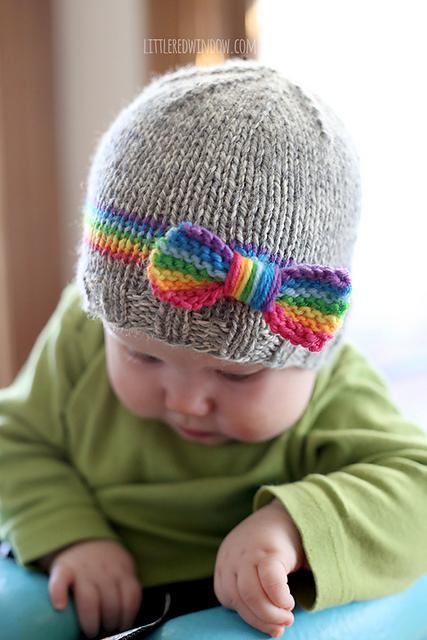 Knitting Patterns Galore Rainbow Baby Hat