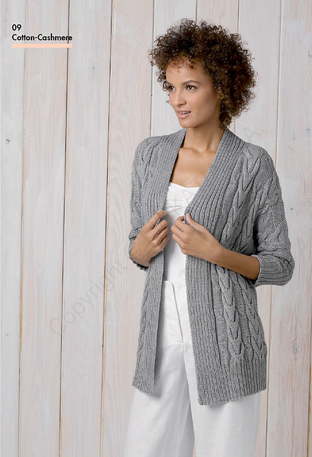 Knitting Patterns Galore - 9 Long Cardigan