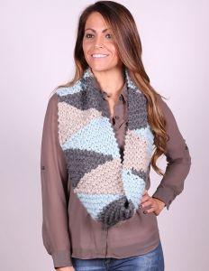 3 Color Short Row Cowl