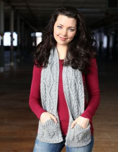 Cabled Pocket Scarf