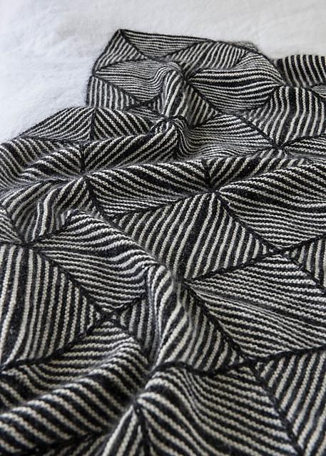 Knitting Patterns Galore Optic Blanket
