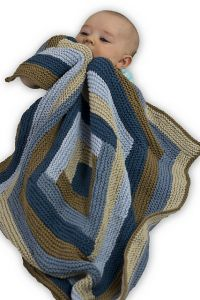 Log Cabin Baby Blanket