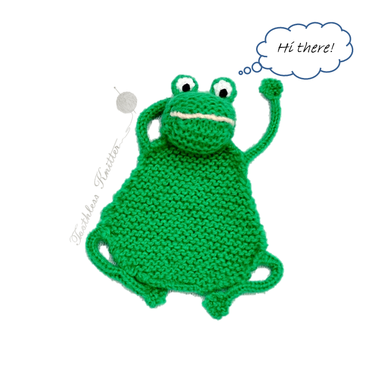 Knitting Patterns Galore Flat Frog A Bookmark