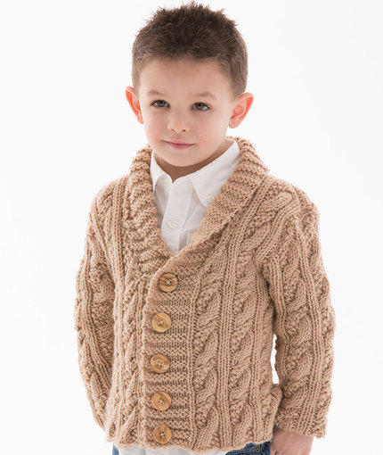7113899bbee8 Knitting Patterns Galore - Little Man Cable Cardigan