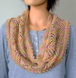 Chevron Lace Cowl