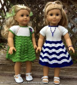 American Girl Doll Ocean Waves Summer Dress