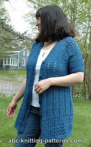 Denim Eyelet Cardigan