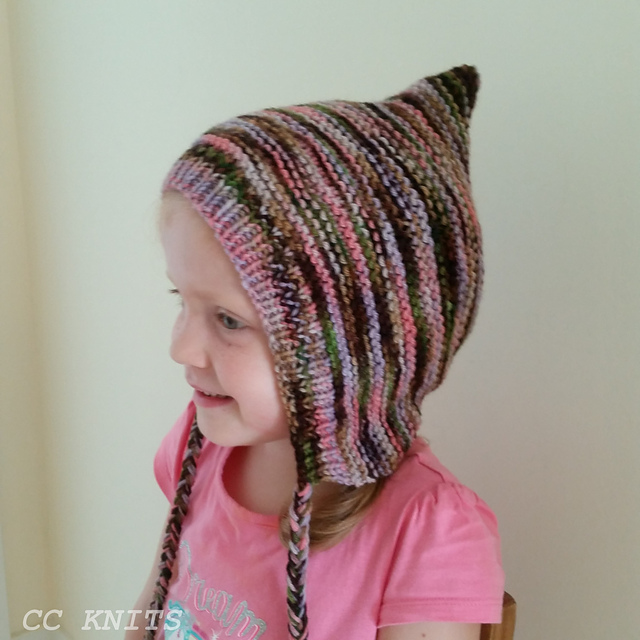 Knitting Patterns Galore - Pixie Hat for Everyone