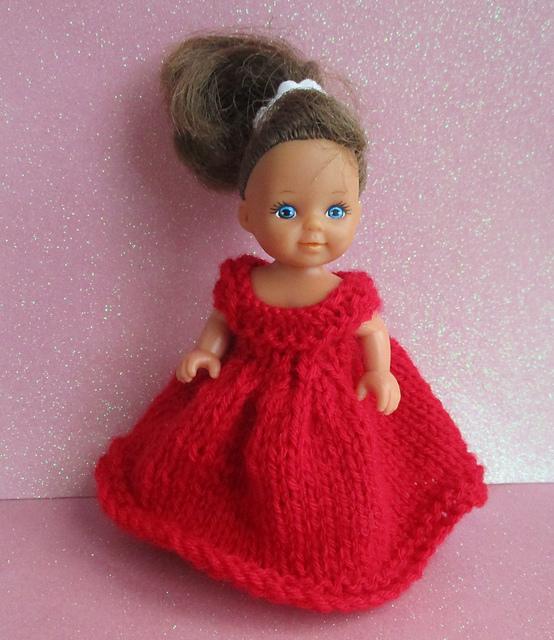 Knitting Patterns Galore Scarlet 4 Dolls Dress