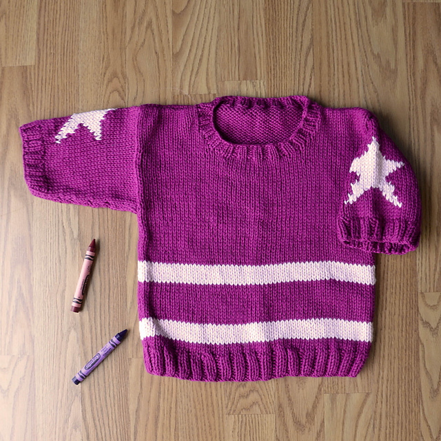 Knitting Patterns Galore All Star Pullover